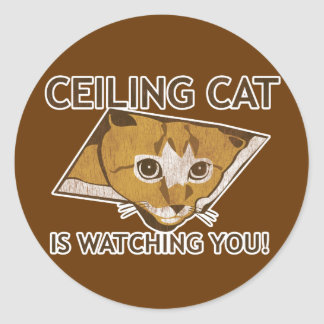 Celing猫は見ています! ラウンドシール