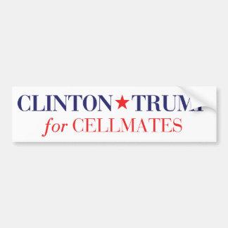 Cellmatesのためのクリントン切札 バンパーステッカー