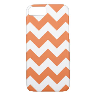 Celosiaのオレンジシェブロンのジグザグ形のiPhone 7の箱 iPhone 8/7ケース