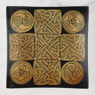 Celtic Knotwork Cross トリンケットトレー