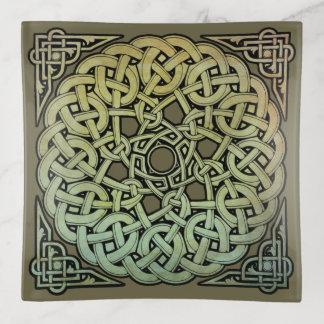 Celtic Knotwork Mandala トリンケットトレー
