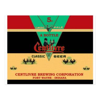CENTLIVREの缶ビールのデザインフォートウェインインディアナ ポストカード