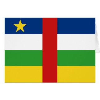 Centrafriqueの旗Notecard カード