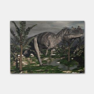 Ceratosaurusの恐竜- 3Dは描写します ポストイット