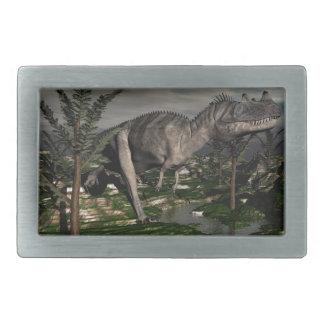 Ceratosaurusの恐竜- 3Dは描写します 長方形ベルトバックル