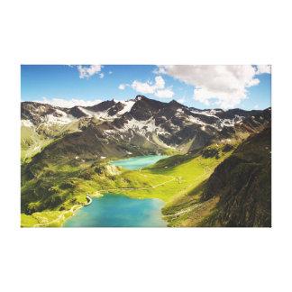 Ceresole Realeのitaly湖の美しい景色 キャンバスプリント