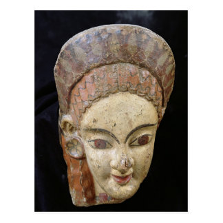 Cerveteriからの女性の頭部が付いているAntefix、 ポストカード
