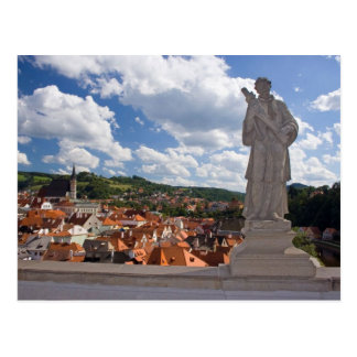 Cesky Krumlovの意見の城の彫像 ポストカード