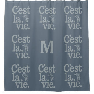 C'estのLaはカスタムなモノグラムのシャワー・カーテンを竸います シャワーカーテン