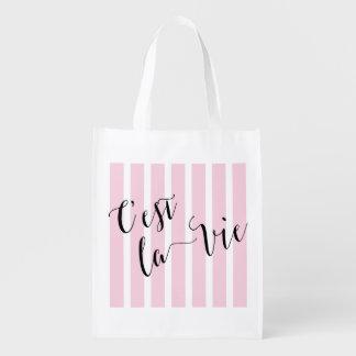 C'estのlaはフランスのな書道を竸います 買い物袋