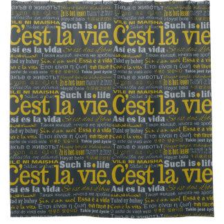 C'estのLaは多言語のシャワー・カーテンを竸います シャワーカーテン
