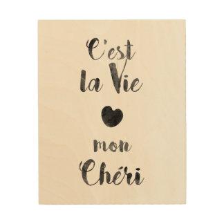 C'estのlaは月曜日Chériを竸います ウッドウォールアート