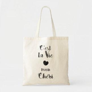 C'estのlaは月曜日Chériを竸います トートバッグ