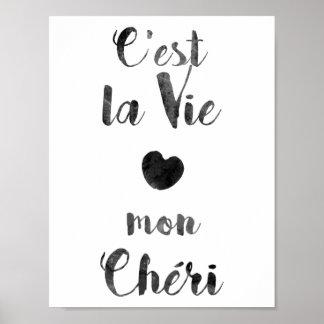 C'estのlaは月曜日Chériを竸います ポスター