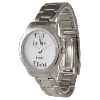 C'estのlaは月曜日Chériを竸います 腕時計