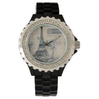 C'estのlaは竸います:  エッフェル塔のデザイン 腕時計