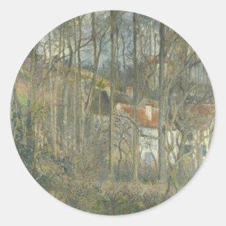Cete des Boeufsのカミーユ・ピサロ著隠者の住処 ラウンドシール