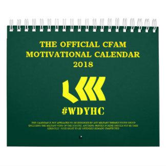 CFAMのやる気を起こさせるなカレンダー2018年 カレンダー
