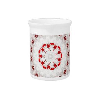 CGBデジタルによる赤と白のケーキのデザインのタイル ピッチャー