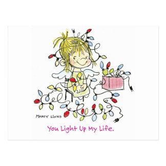 CH-001クリスマスの照明の生命 ポストカード