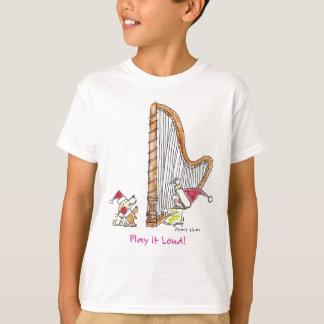 CH-004クリスマスのハープ Tシャツ