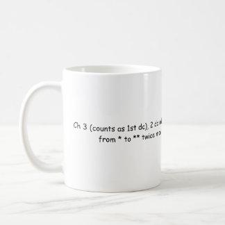 CH 3のかぎ針編みのマグ コーヒーマグカップ