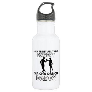 chaのchaのchaのダンスのデザイン ウォーターボトル