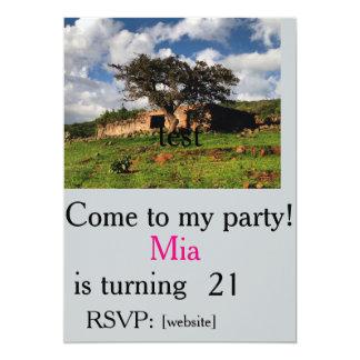chacharasの招待のテンプレート分野 カード