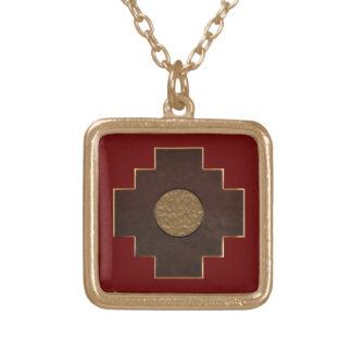 Chakanaの十字 ゴールドプレートネックレス