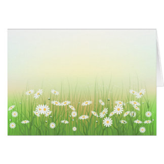chamomileの芝生と囲んで下さい カード