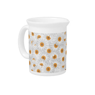 Chamomileの花の花束 ピッチャー