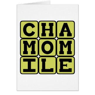 Chamomile、タイプの茶 カード