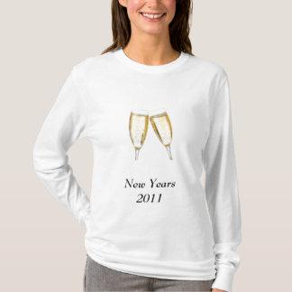 champagne_glasses、新年2011年 tシャツ