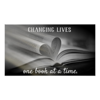 Changing Lives One Book at a Time Poster ポスター