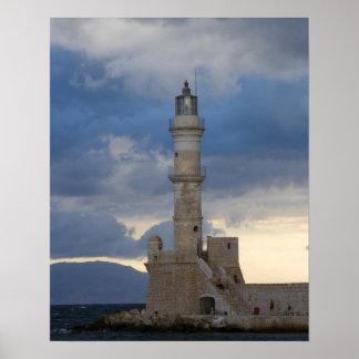 Chania 2のクレタそして古い町のギリシャの島 ポスター