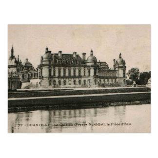 Chantillyの館の城のレプリカ1925年 ポストカード