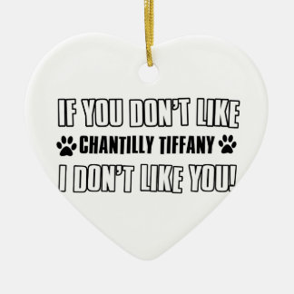 chantilly Tiffany猫のデザイン セラミックオーナメント