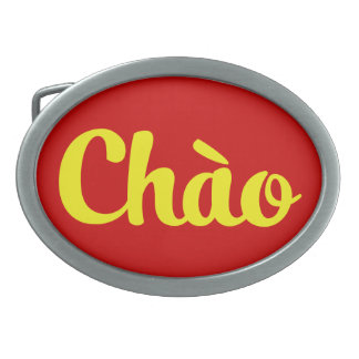 Chào/こんにちは~ベトナム/ベトナム語/Tiếng Việt 卵形バックル