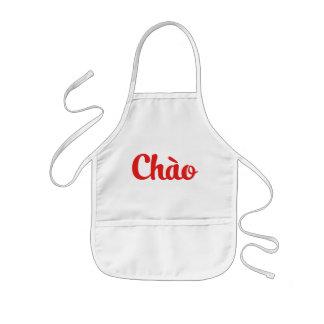 Chào/こんにちは~ベトナム/ベトナム語/Tiếng Việt 子供用エプロン