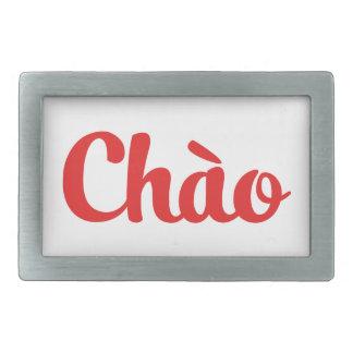Chào/こんにちは~ベトナム/ベトナム語/Tiếng Việt 長方形ベルトバックル