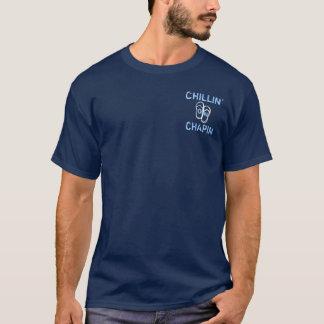 ChapinのビーチのデニスMAのフリップフロップのChillin Tシャツ