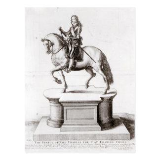 Charingの十字の王のチャールズ彫像 ポストカード