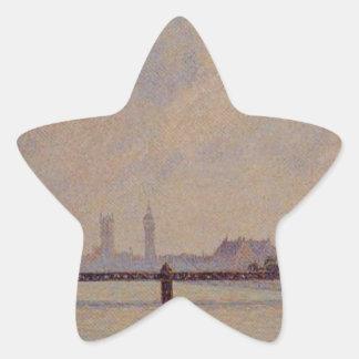 Charingの十字橋、カミーユ・ピサロ著ロンドン 星シール