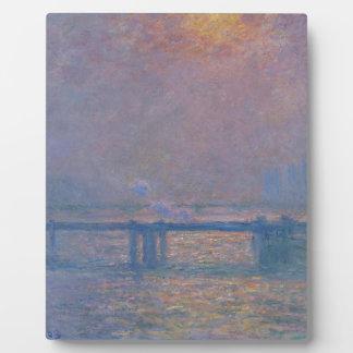 Charingの十字橋、クロード・モネ著テムズ フォトプラーク