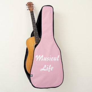 Charisのファッションの店-アコースティックギターのバッグ(ピンク) ギターケース