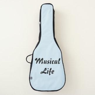 Charisのファッションの店-アコースティックギターのバッグ(青い) ギターケース