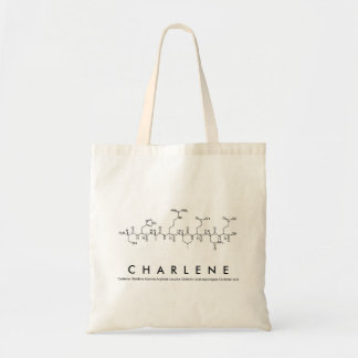 Charleneのペプチッド名前のバッグ トートバッグ