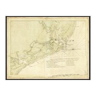 Charlestownサウスカロライナ(1780年) キャンバスプリント