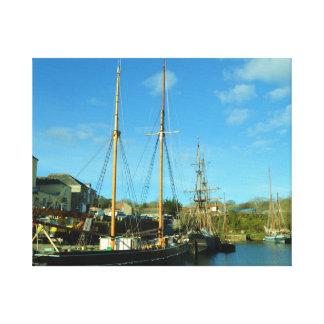 Charlestown港のコーンウォールイギリスのPoldarkの位置 キャンバスプリント