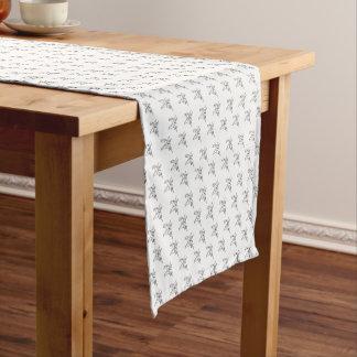 Chasinのユニコーンの幾何学的な水晶ユニコーンパターン ショートテーブルランナー